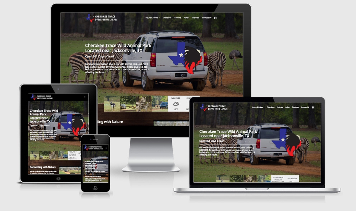 Virtual Vision recently launched a new website for Cherokee Trace Drive-Thru Safari