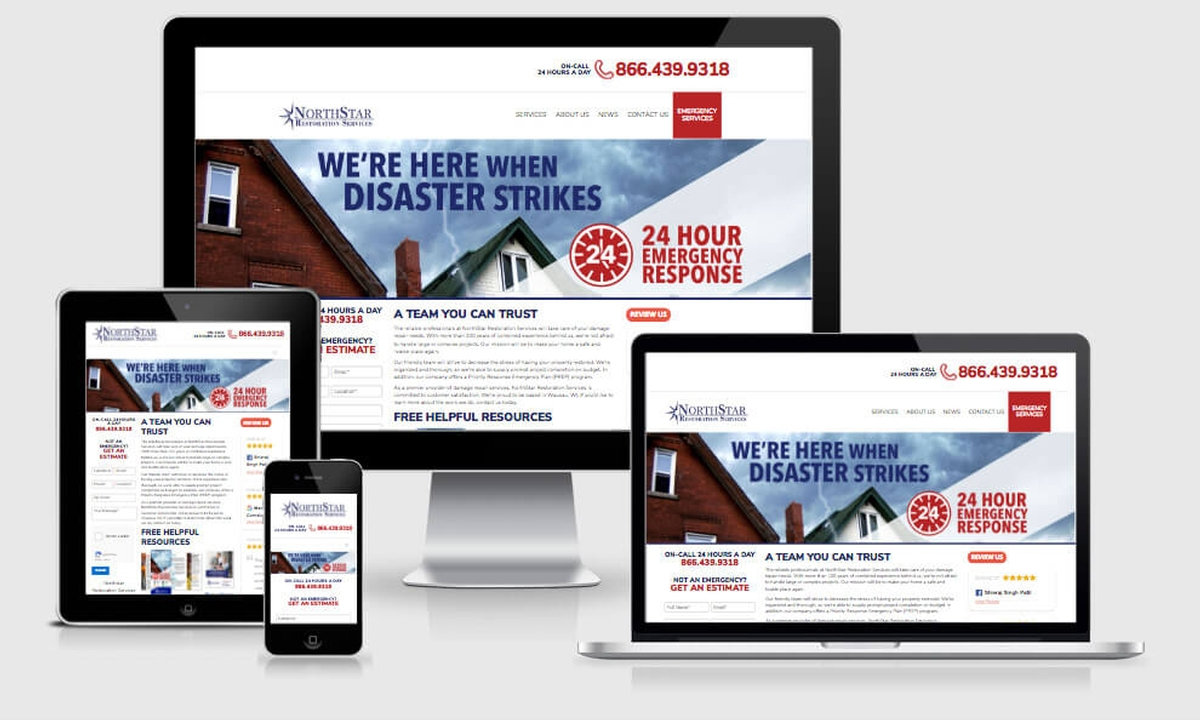 Virtual Vision recently launched a new website for NorthStar Restoration Services
