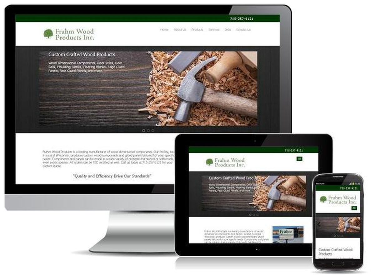 Virtual Vision recently launched a new website for Frahm Wood Products