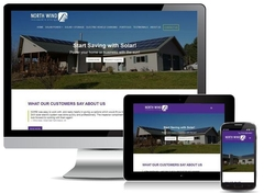 Virtual Vision recently launched a new website for North Wind Renewable Energy