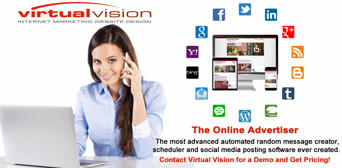 Don't be left behind! Virtual Vision's Online Advertiser schedules messages with pictures that will appear in your LinkedIn News Feed about your events