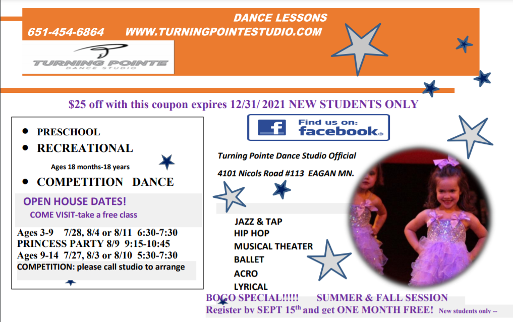 Welcome to the Turning Point Dance Studio