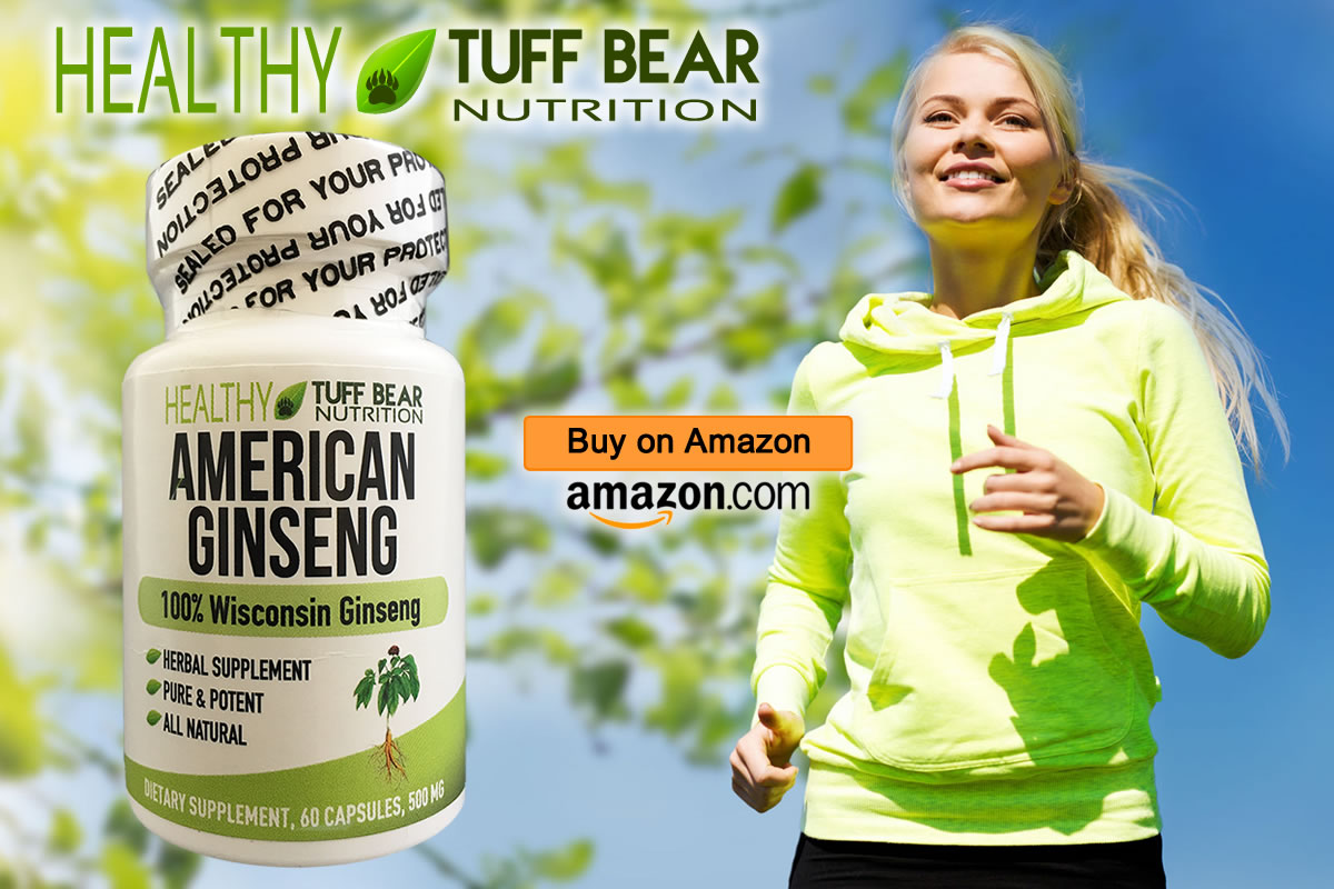 Get Now! Best Herbal American Ginseng Capsules by TUFF BEAR