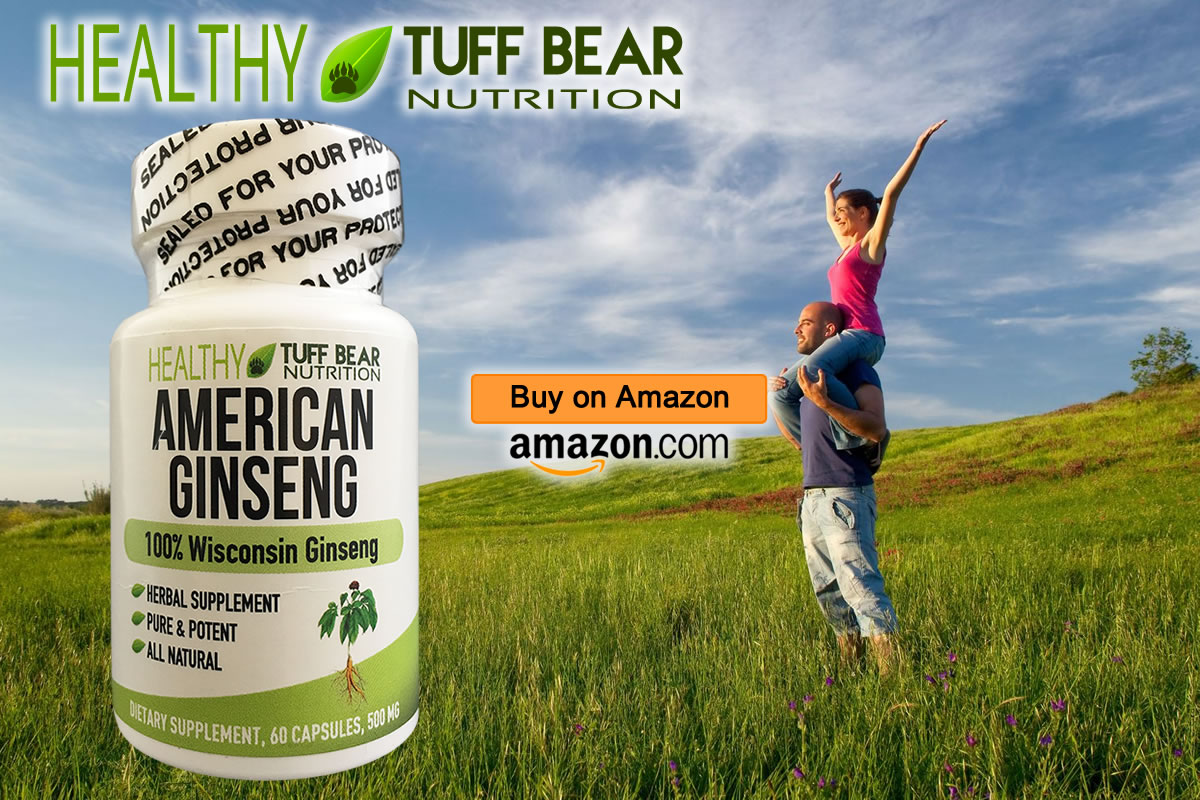 Pure American Ginseng Capsules by TUFF BEAR