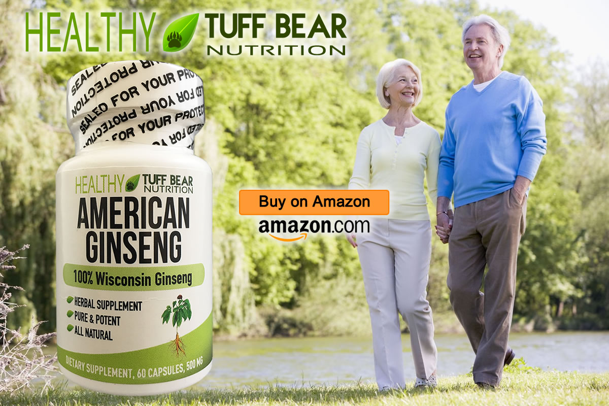 Best American Ginseng Capsules by TUFF BEAR