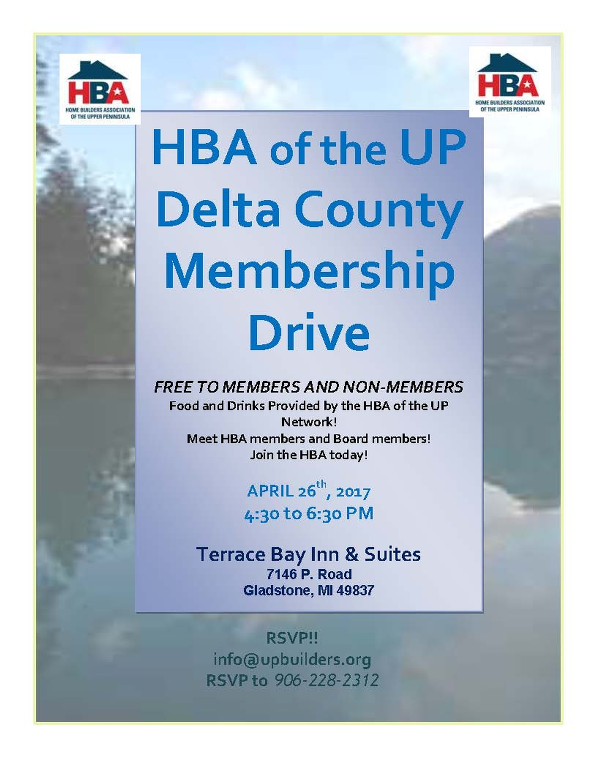 Escanaba Area Membership Drive Tonight!