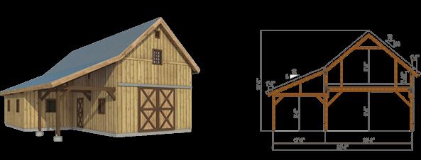 20 X40 Ponderosa Country Barn
