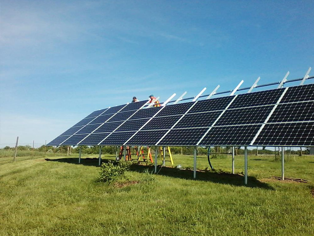 Solar panel installation in Iowa