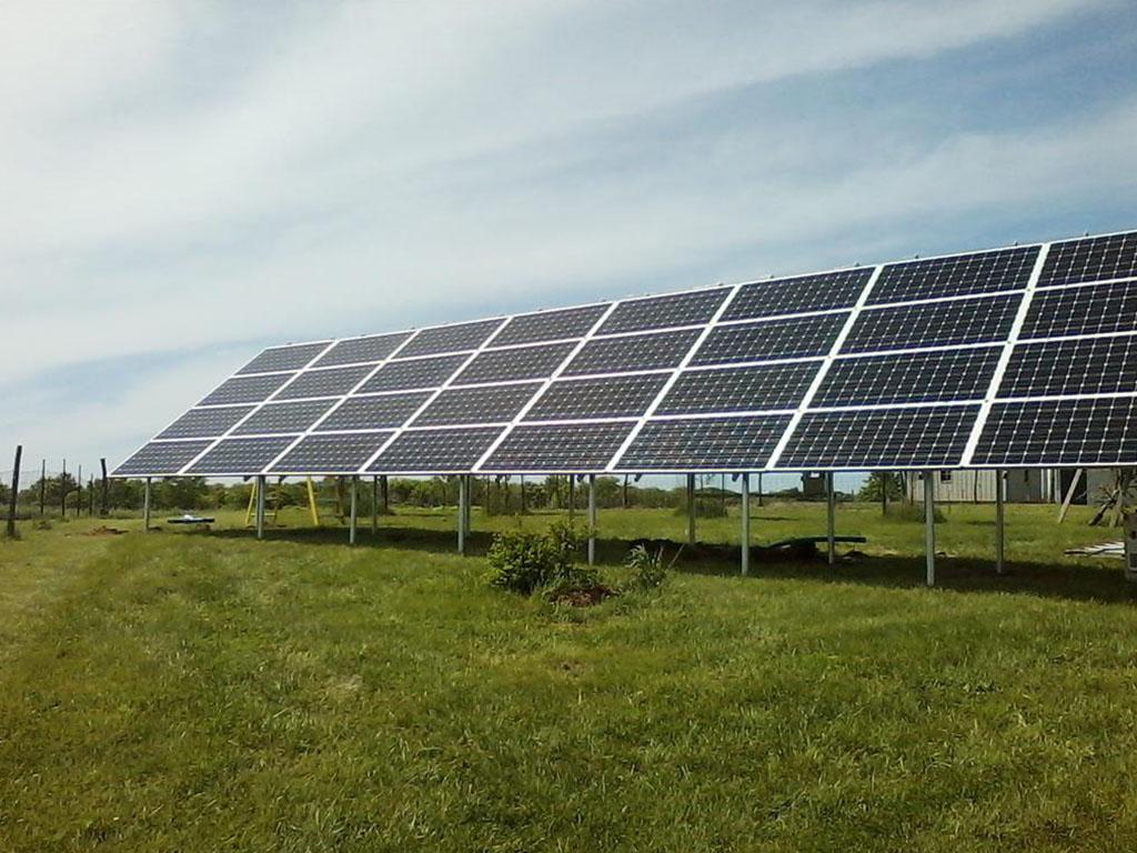 Solar panel installation in Iowa