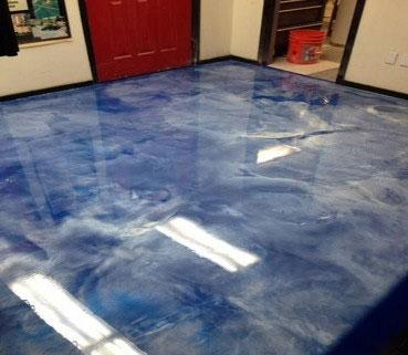 Metal FX Epoxy Flooring by Fraco Concrete Products in Marquette, MI
