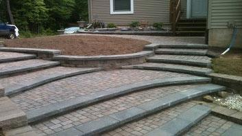 Pavers and Retaining Wall Block Steps
