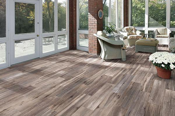 Faux Wood Tile - Savanna Smoke