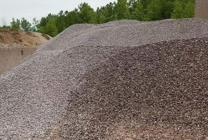 #67 rock 1/2 to 3/4 crushed granite. Used for making Concrete also used for drainage in basements and retaining walls.