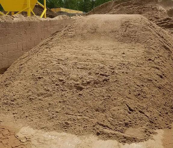 Mason sand used for making concrete block or for mixing Mason mortar for laying block.