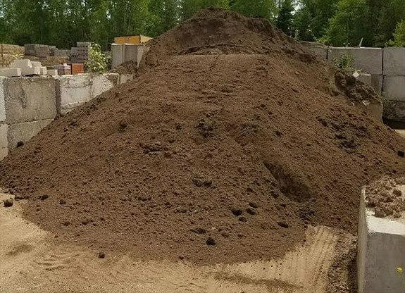 Topsoil used for base for lawns and gardens.