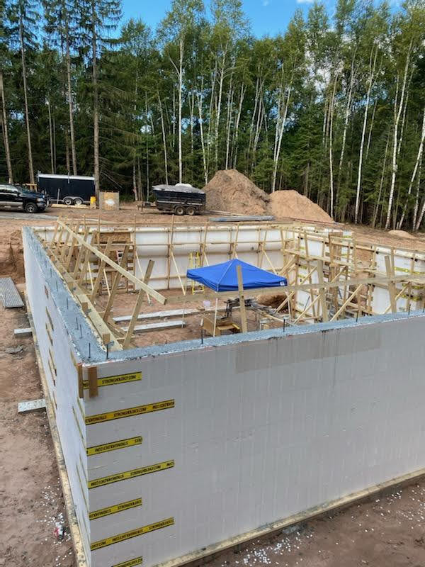 Inside the Logix Insulated Concrete Form